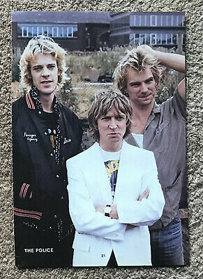 THE POLICE ~ 1982 Full Page UK Magazine Annual Poster STING • 3.95£