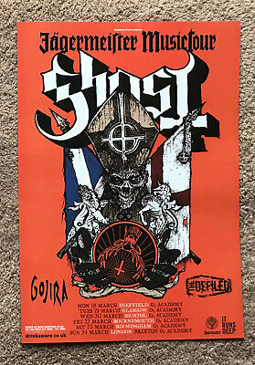GHOST - TOUR DATES 2013 Full Page UK Magazine Ad GOJIRA THE DEFILED • 3.95£