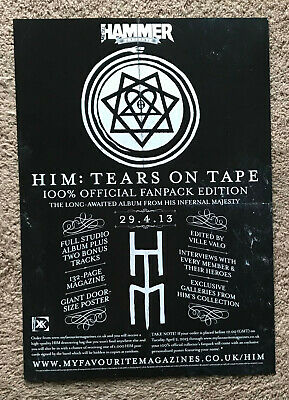 HIM - TEARS ON TAPE 2013 Full Page UK Magazine Ad VILLE VALO • 3.95£