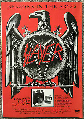 SLAYER - SEASONS IN THE ABYSS 1990 Full Page UK Magazine Ad • 3.95£