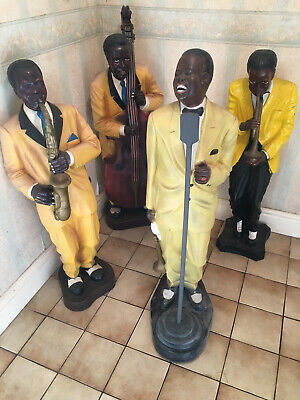 Large American Music JAZZ Band Musician 4 Figures Collectable  • 650£