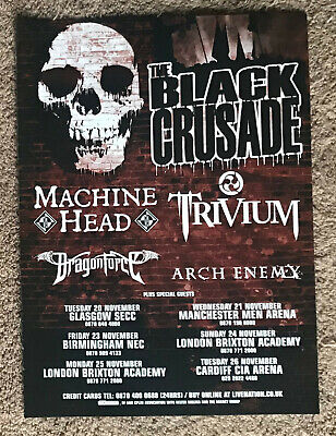 MACHINE HEAD TRIVIUM DRAGONFORCE ARCH ENEMY -TOUR DATES 2007 Full Page UK Mag Ad • 3.95£