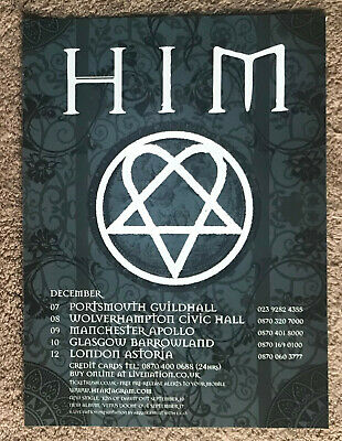 HIM - TOUR DATES 2007 Full Page UK Magazine Ad VILLE VALO • 3.95£