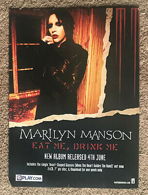 MARILYN MANSON - EAT ME, DRINK ME 2007 Full Page UK Mag Ad • 3.95£