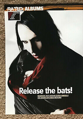 MARILYN MANSON -- 2007 Full Page UK Magazine Poster  • 3.95£