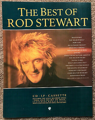 ROD STEWART - THE BEST OF 1989 Full Page UK Magazine Ad • 3.95£