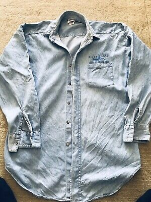 Billy Joel River Of Dreams Denim Shirt 1993/4 Large UK Size • 13£