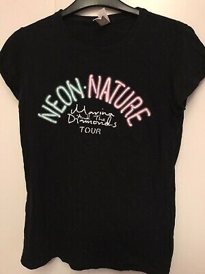 Marina & The Diamonds Neon Nature Black Tour 2015 T-Shirt, Size Medium • 10£
