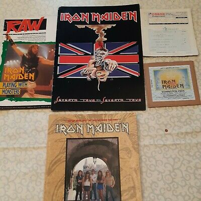 Selection Of Iron Maiden Book-used Tickets-Raw Mag 1988 • 5.99£