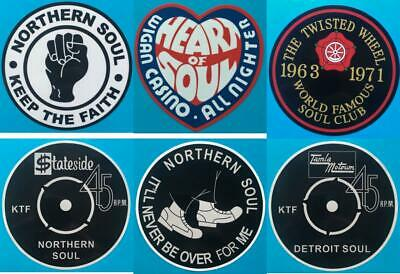 Northern Soul Record Box Sticker - Set Of 6  -   4  Stickers - Set 2 - Bargain • 5.99£