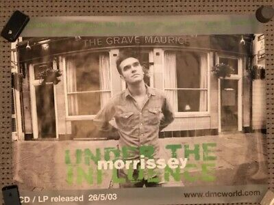 """Morrissey RARE """"Under The Influence"""" Promo Poster 30 X 40 Inches  • 20£"""
