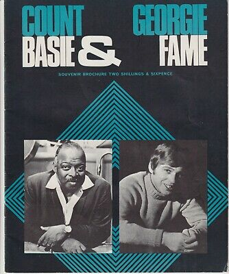 1968 Count Basie & Georgie Fame Concert Programme At The Royal Festival Hall • 4£