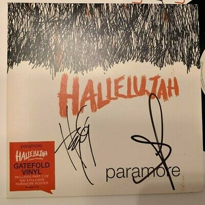 PARAMORE   -  HALLELUJAH   -  SIGNED UK 7 Inch PS  -  HAYLEY + JERRY-  UACC RD • 64.99£