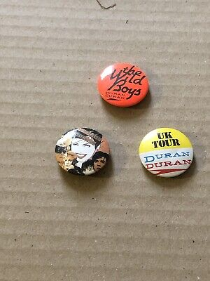 DURAN DURAN VINTAGE METAL PIN BADGE FROM THE 1980's POP RETRO  • 1.90£