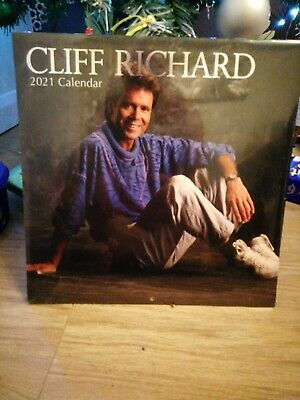 Cliff Richard 2021 Wall Calendar *new And Sealed * • 4.49£