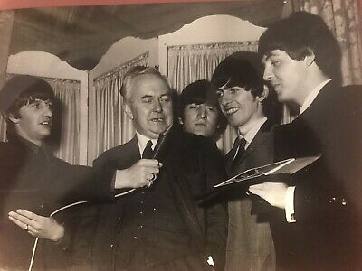 Beatles Promotional Press Photo 9 X 7 Ex With Press Association Stamp On Tever • 9.99£