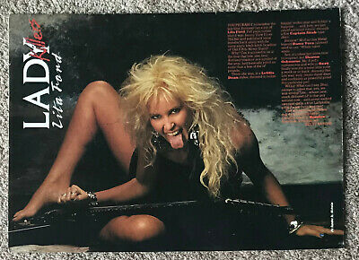 LITA FORD ~ 1987 Full Page Magazine Poster • 3.95£