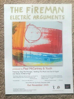 THE FIREMAN - ELECTRIC ARGUMENTS 2009 Full Page UK Magazine Ad PAUL McCARTNEY • 3.95£
