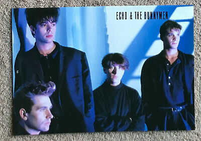 ECHO & THE BUNNYMEN - 1987 Full Page UK Magazine Annual Poster • 3.95£
