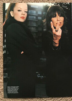 SHIRLEY MANSON & CHRISSIE HYNDE 1999 Full Page UK Mag Poster GARBAGE PRETENDERS • 3.95£