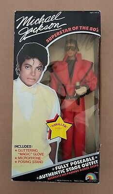 Michael Jackson Poseable Figure ~ Thriller Outfit ~ 1984 Ljn ~ Sealed Box • 125£