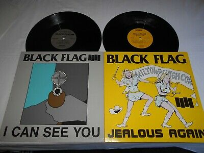 Black Flag Jealous Again & I Can See You Both Mint- Henry Rollins 1980 +89 Chavo • 59.95£