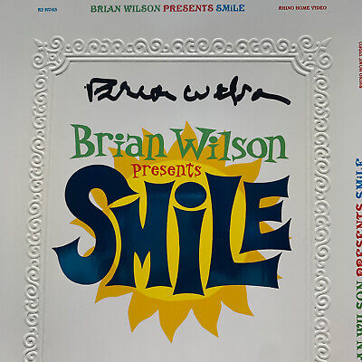 BRIAN WILSON Autographed Signed Presents Smile DVD Packaging BEACH BOYS • 105.69£