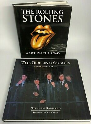 The Rolling Stones 2 X Hardback Books Biographical Rock N Roll 47077 CP • 6.99£
