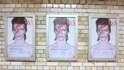 Set Of 3 Ultra Rare David Bowie Is (three) Genuine V & A Exhibition Posters • 699£