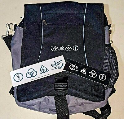 Led Zeppelin Promo Backpack + Stickers Rare Page Plant Bonham Free Usa Shipping • 23.64£
