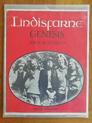 GENESIS Support To LINDISFARNE 1972 'FOXTROT' Tour Programme Very Good Condition • 42£