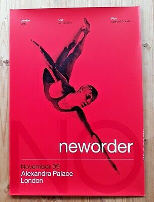 Official New Order Tour Poster Alexandra Palace London 2018 • 50£