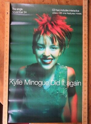 Kylie Minogue 'Did It Again' Original Poster 27  X 19  VGC • 10.50£