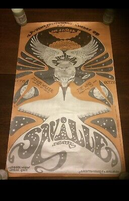 Rare The Who 1966 Concert Poster Saville Theatre • 520£