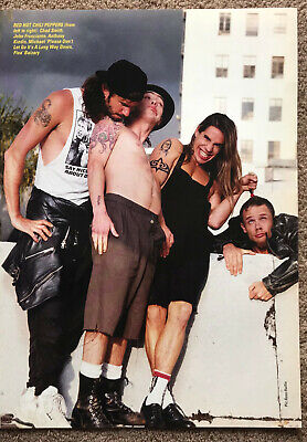 RED HOT CHILI PEPPERS - 1990 Full Page UK Magazine Poster • 3.95£