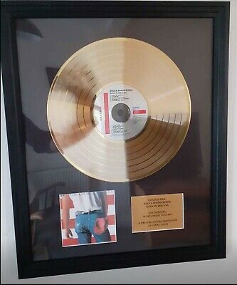 Bruce Springsteen Presentation Gold Disc BORN IN THE USA • 95£