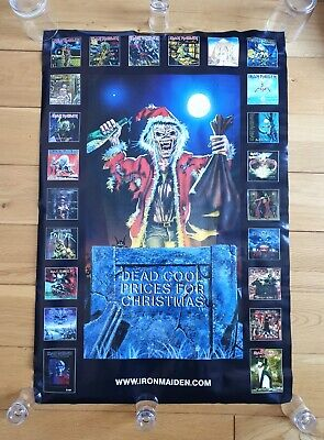 Iron Maiden Dead Cool Prices For Christmas Official Promo Poster Ultra Rare • 79.95£