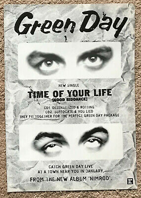 GREEN DAY - TIME OF YOUR LIFE 1997 Full Page UK Magazine Ad • 3.95£