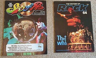 2 Magazines Feat The Who  'The History Of Rock' & 'The Story Of Pop' 1983 & 1973 • 2.99£
