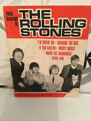 Rolling Stones Sheet Music Book Songs Recorded By The Rolling Stones   • 5£