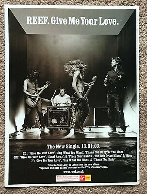 REEF - GIVE ME YOUR LOVE 2003 Full Page UK Magazine Ad • 3.95£