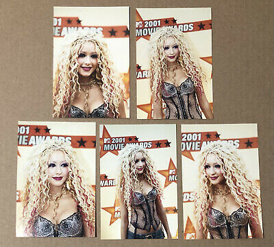 2001 Christina Aguilera Mtv Movie Awards Red Carpet Candid Photo Lot • 3.58£