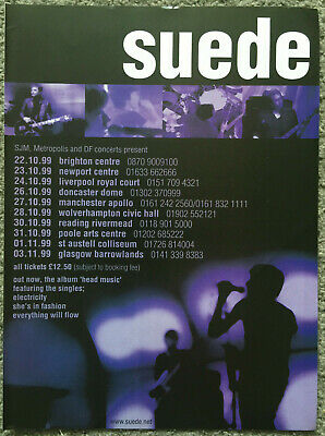 SUEDE - TOUR DATES 1999 Full Page UK Magazine Ad • 3.95£