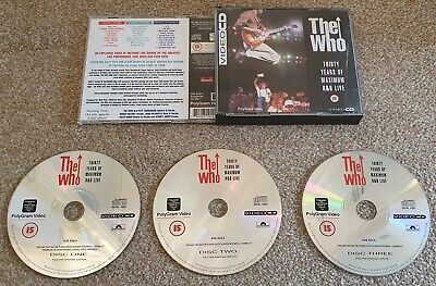 The Who - VideoCD - Thirty Years Of Maximum R&B Live • 12.99£