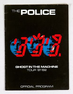 The Police Program Book 1981 1982 Ghost In The Machine Tour • 21.46£