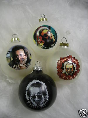 Jerry Garcia Grateful Dead SET OF 4 Ornaments New OS • 14.08£
