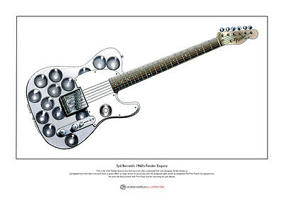 Syd Barrett's Fender Esquire Limited Edition Fine Art Print A3 Size • 18.50£