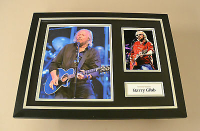 Barry Gibb Signed Photo Framed 16x12 Bee Gees Autograph Memorabilia Display +COA • 224.99£