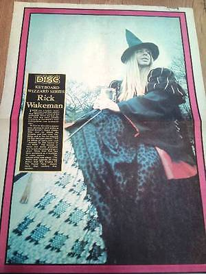 RICK WAKEMAN (Yes) 1975 Giant Newsprint POSTER 16x24 Inches • 29.95£