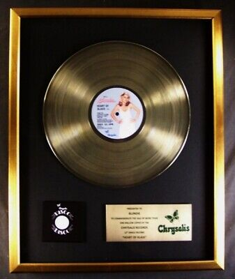 Blondie Heart Of Glass 12  Single LP Gold Non RIAA Record Award Chrysalis • 185.20£